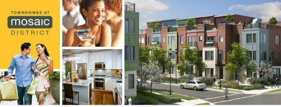 "new townhouses dc ""mosaic district"" fairfax va"