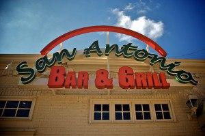 A Brookland favorite, San Antonio Bar & Grill installs new welcome sign.  Photo courtesy of www.BrooklandAvenue.com.