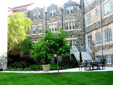 St. Paul's College is a 10-acre campus of historic structures and green spaces. EYA's Chancellor's Row surrounds the campus on three sides.
