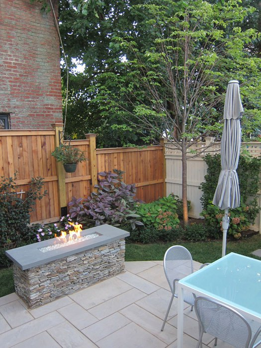 The enclosed yards offer plenty of space for planting, gardening or your four-legged friends!