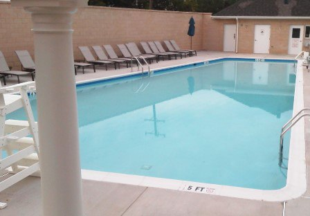 The pool at Arts District Hyattsville opens this weekend. It's one of many amenities onsite.