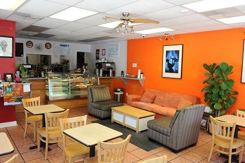 The inside of Cafe Sureia