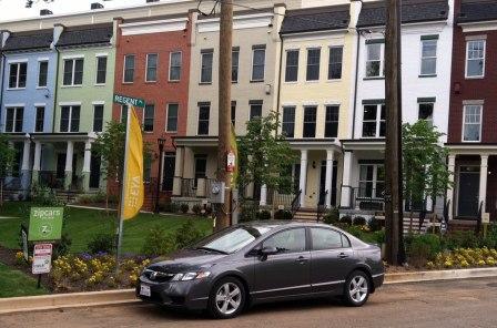 ZipCar Arrives at Chancellor's Row DC