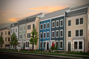 Now complete, EYA's first new homes at Old Town Commons.  Models are open daily 11 AM - 6 PM at 735 N. Alfred Street.