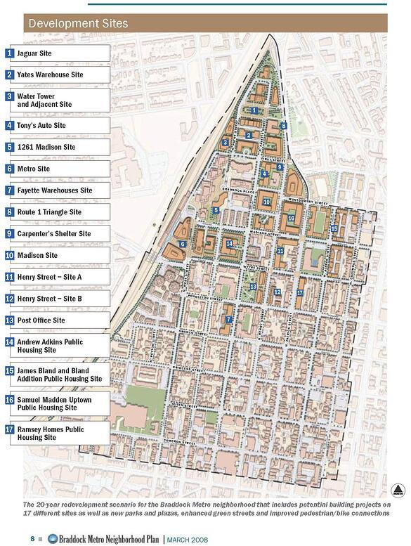 Braddock Metro Plan by the City Planning Office