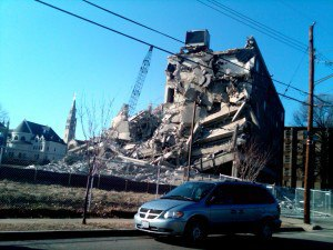 Demolition at CUA/ABDO South Campus