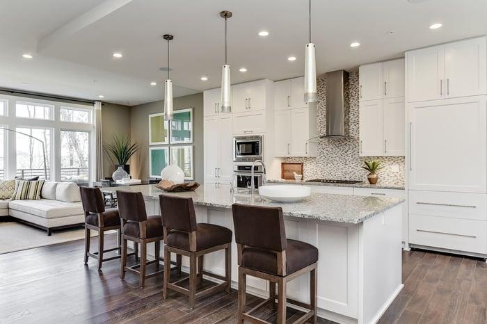 Grosvenor Heights minimalist kitchen