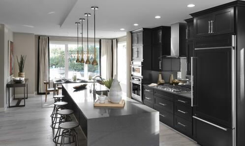Kitchen with mixed and matched options