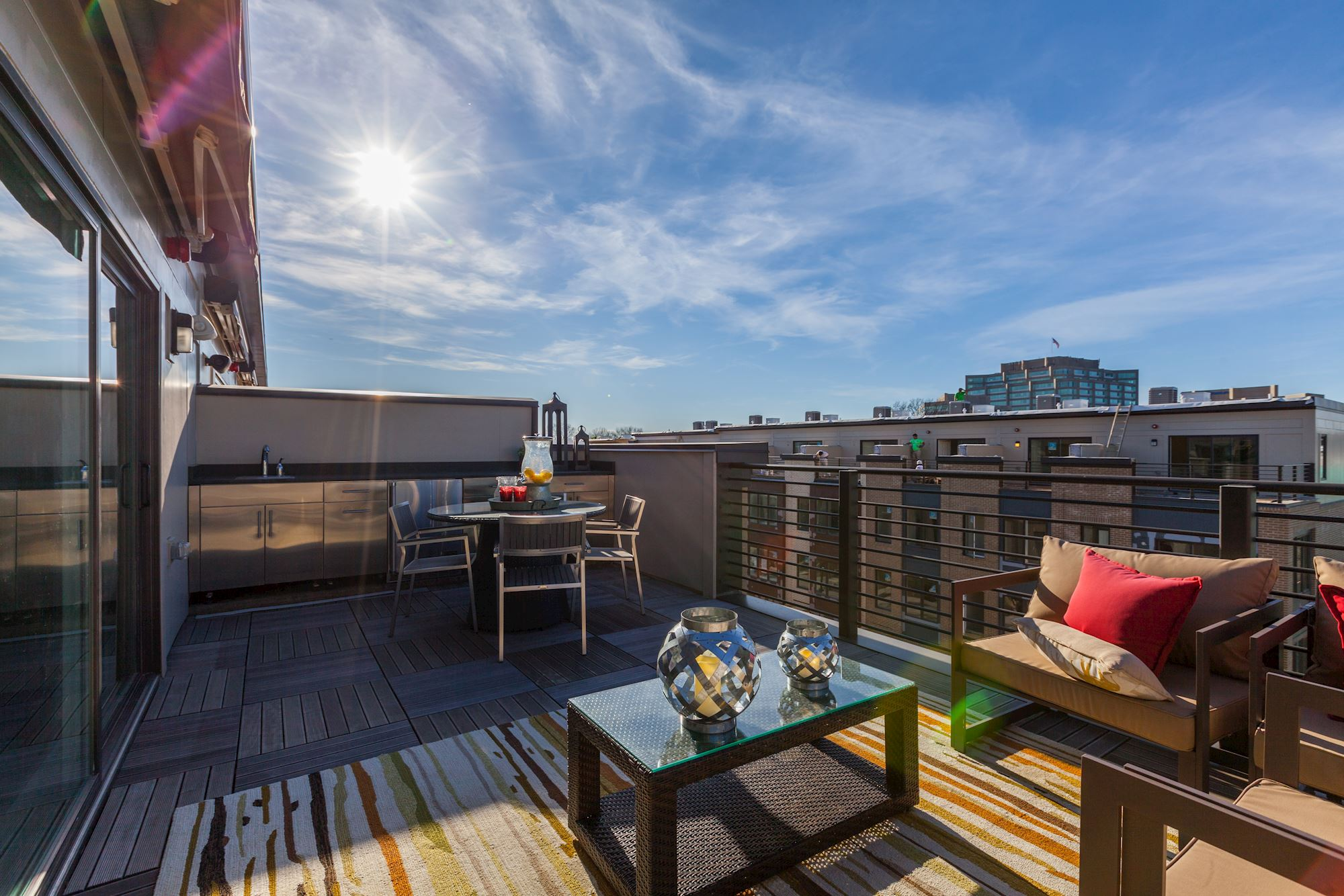 Rooftop terrace at Montgomery Row
