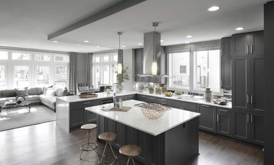 Less maintenance in new construction kitchen example
