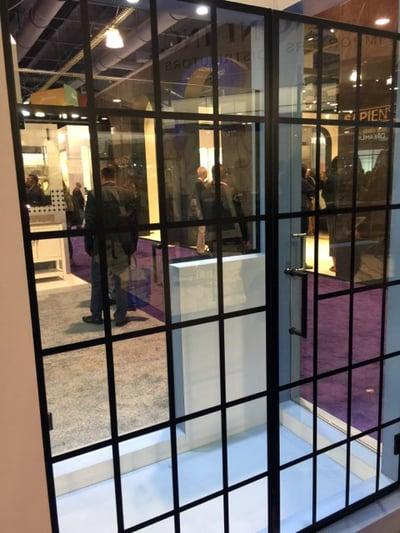 More grids on shower door glass.