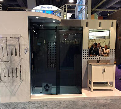 Smoke glass shower doors are also a new trend.