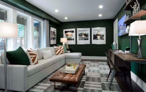 Green wall color design