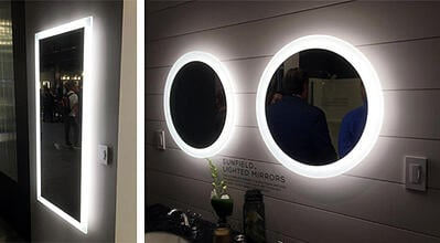lighted mirror trend
