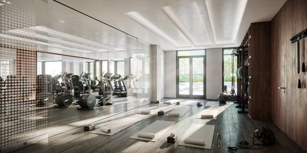 Gym and yoga studio at Robinson Landing