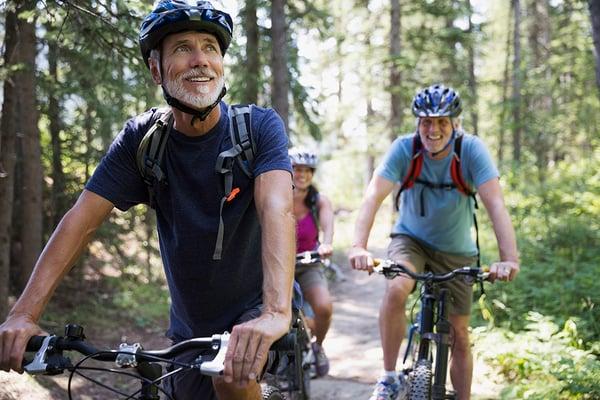 Riding bikes at Cabin John Regional Park