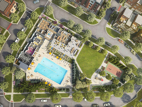 The CORE at Tower Oaks Aerial View