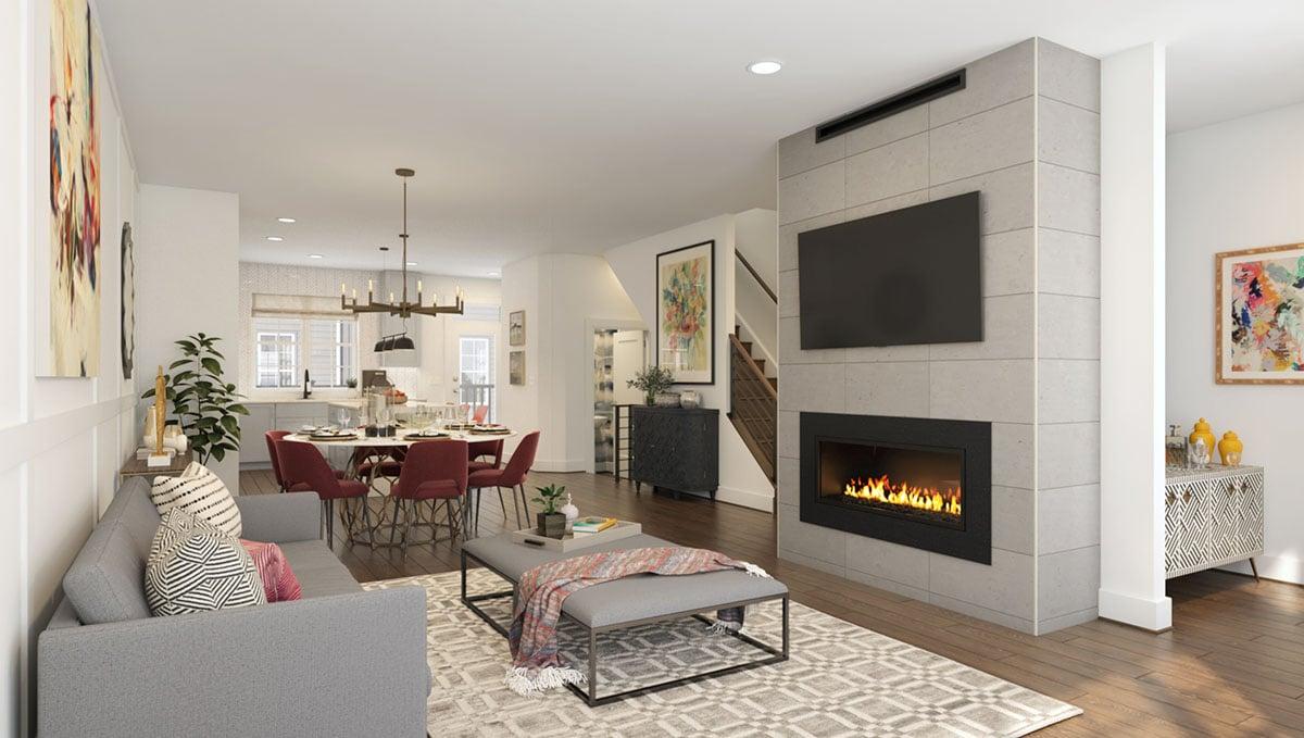 The Baker Model - Main Level Living Room
