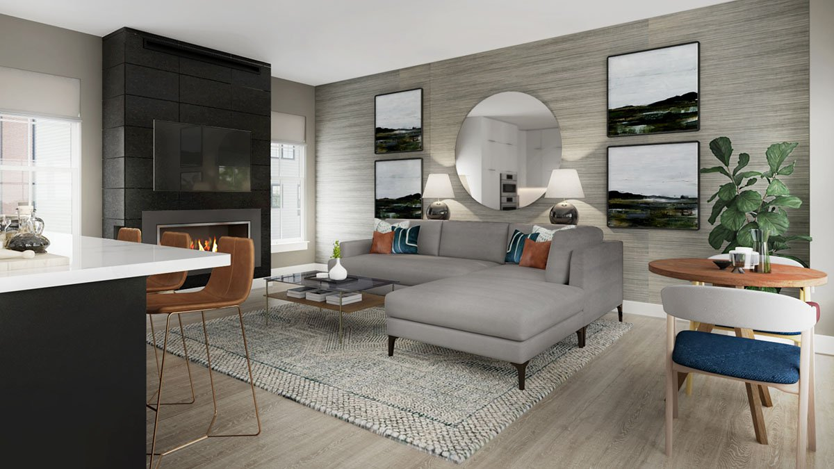 The Conrad Model - Main Level Living Room